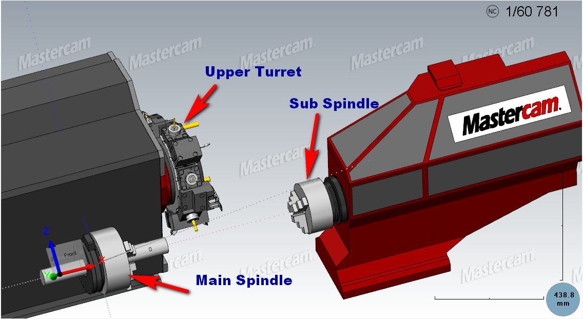 Máy Tiện phay có Sub Spindle